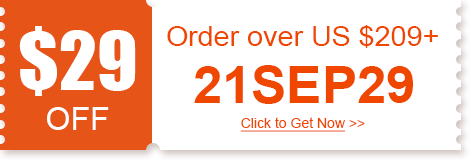$29 OFF Order over US $209+