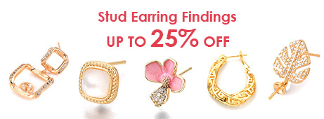 Stud Earring Findings Up To 25% OFF
