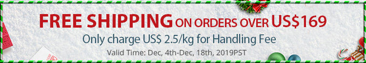 Free Shipping On Orders Over US$169