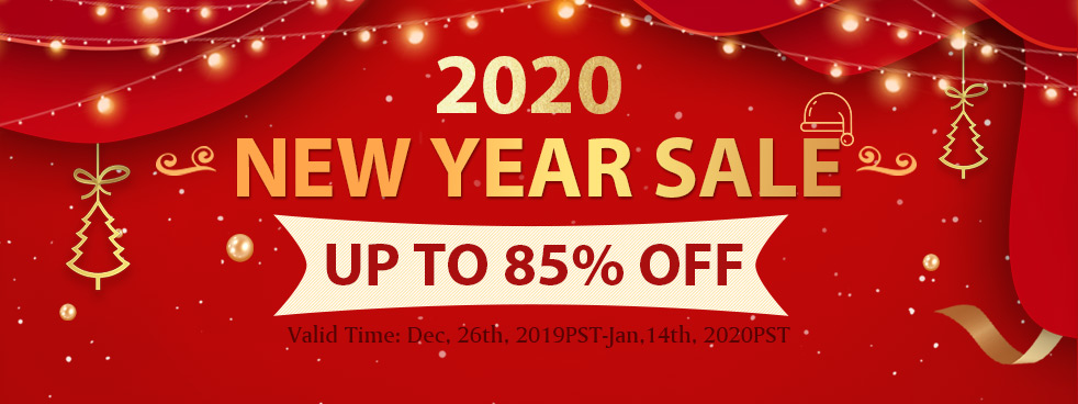 2020 New Year Sale Up to 85% OFF