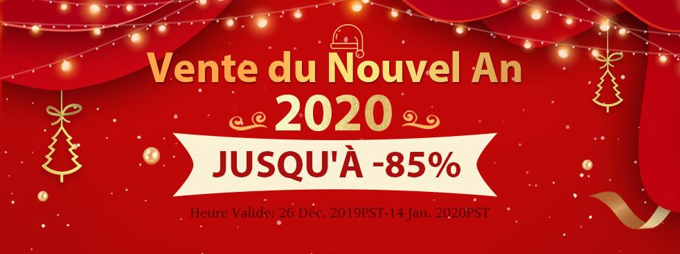 Vente du Nouvel An 2020 Jusqu'à -85%