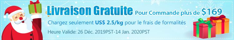 Livraison Gratuite Pour Commande plus de $169 Chargez seulement US$ 2.5/kg pour le frais de formalités