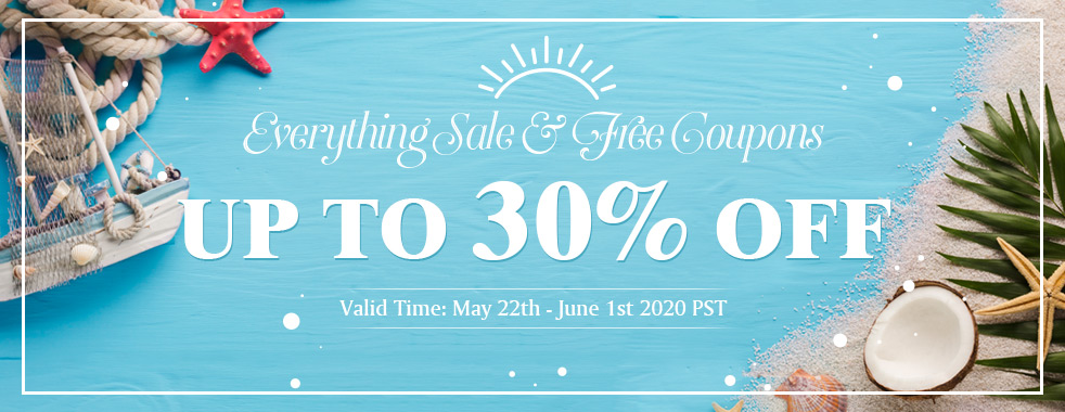 Everything Sale & Free Coupons Up To 30% OFF