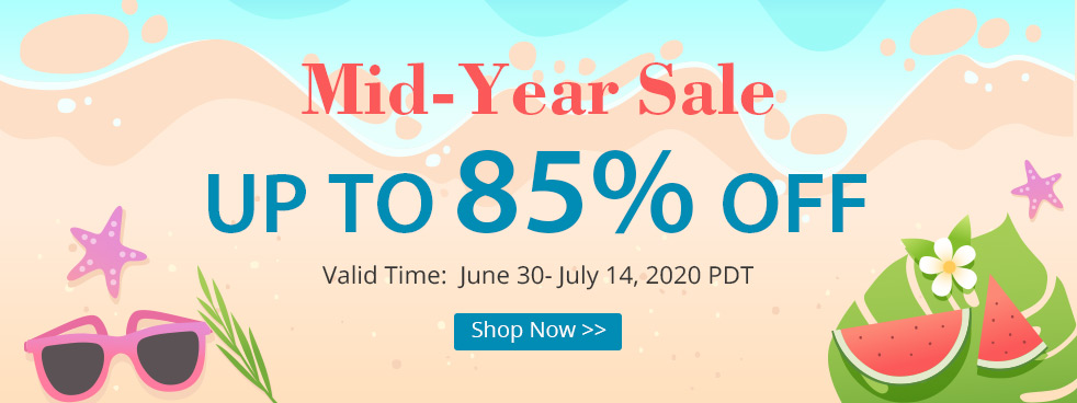 Mid-Year Sale Up to 85% OFF