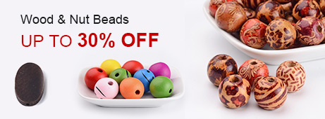Wood & Nut Beads Up To 30% OFF
