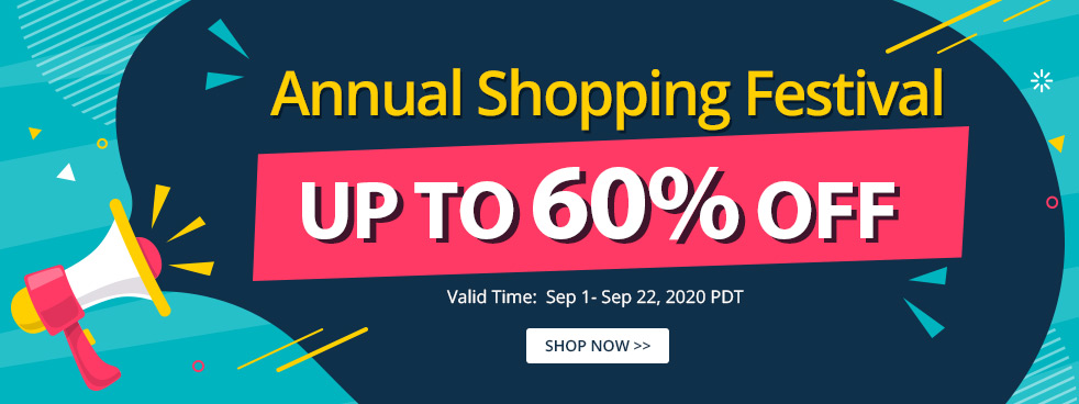 Annual Shopping Festival Up to 60% OFF