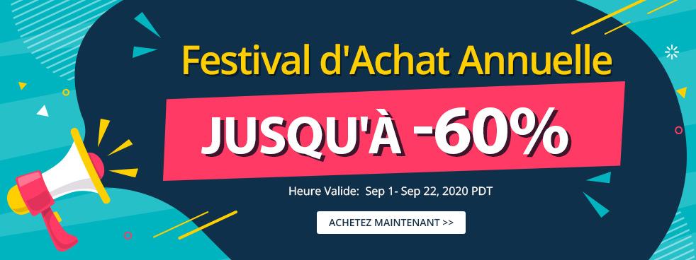 Festival d'Achat Annuelle Jusqu'à -60%