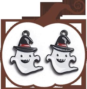 Ghost Alloy Enamel Pendants