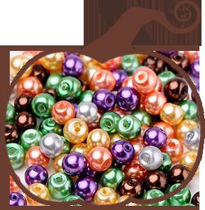 Halloween  Glass Pearl Beads