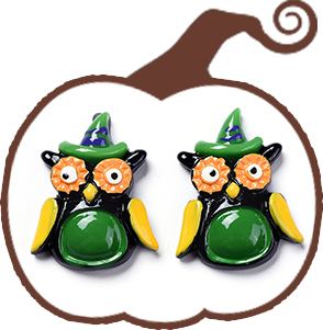 Halloween Theme Opaque Resin Cabochons