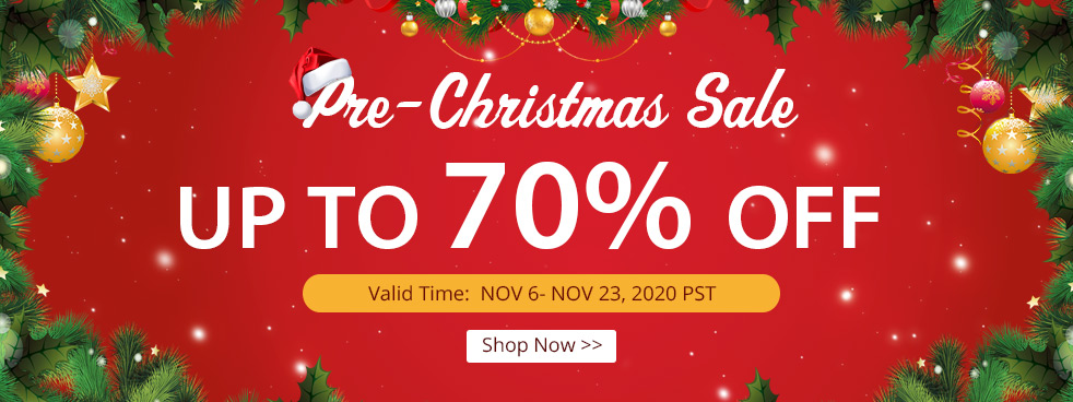 Pre-Christmas Sale Up to 70% OFF