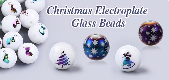 Christmas Electroplate Glass Beads