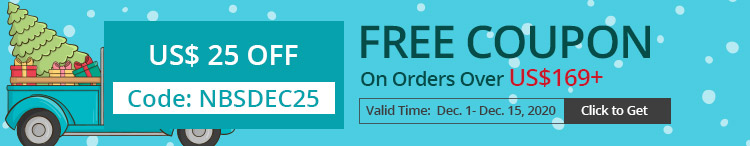 Free Coupon US$ 25 OFF On Orders Over US$169