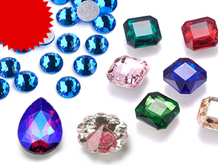Glass Rhinestone Cabochons UP to 65% OFF