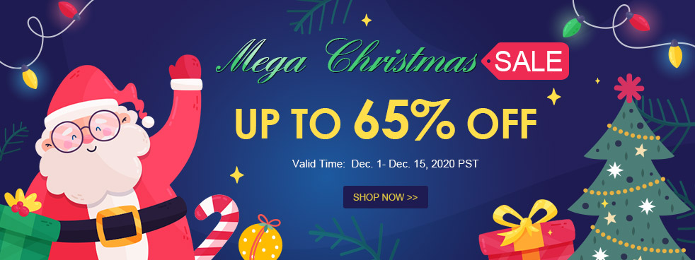 Mega Christmas Sale Up to 65% OFF