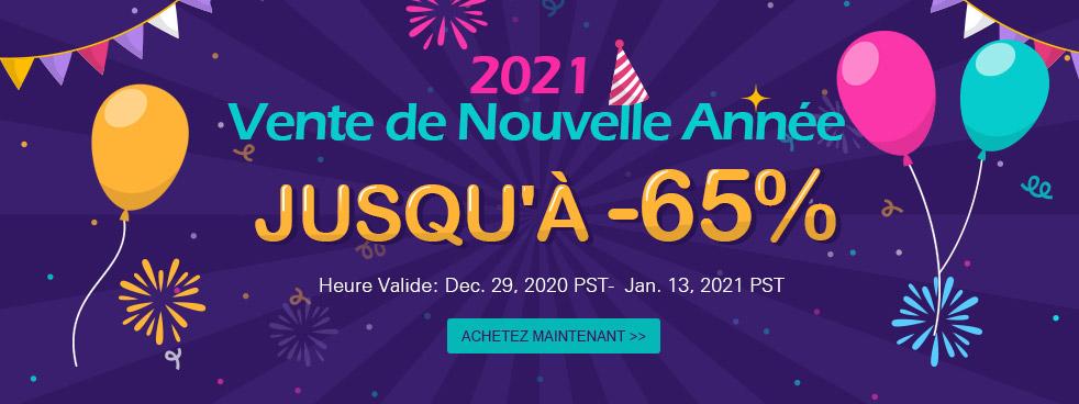 2021 Vente de Nouvelle Année Jusqu'à  -65%