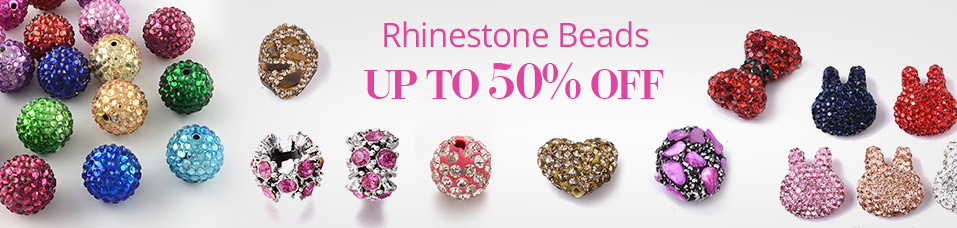 Rhinestone Beads   UP to 50% OFF