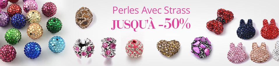 Perles Avec Strass Jusqu'à-50%