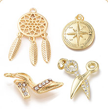 Real 18K Gold Plated Charms