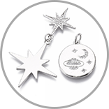 Real Platinum Plated Charms