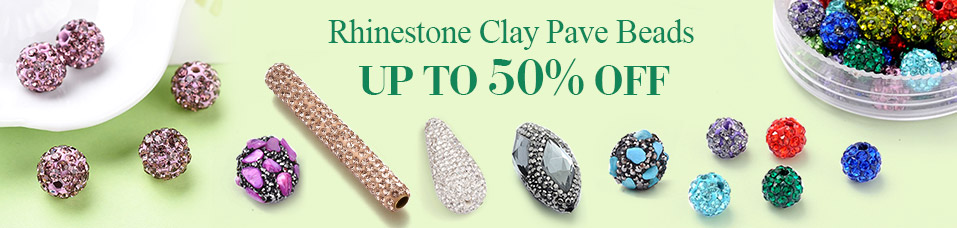 Rhinestone Clay Pave Beads UP To 50% OFF