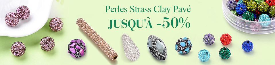 Perles Strass Clay Pavé Jusqu'à-50%