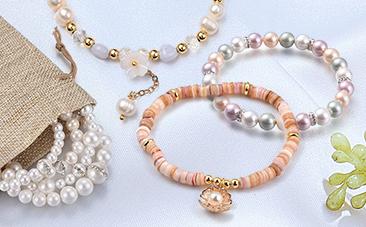 Shell & Pearl Stretch Bracelets