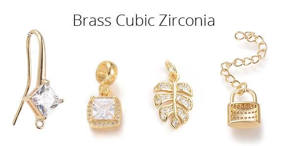 Brass Cubic Zirconia
