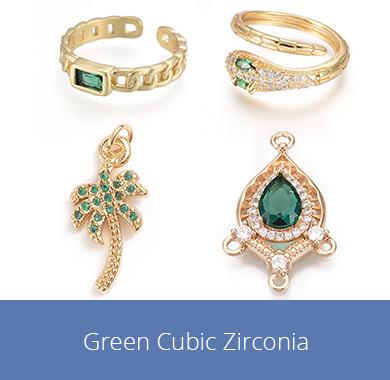 Green Cubic Zirconia