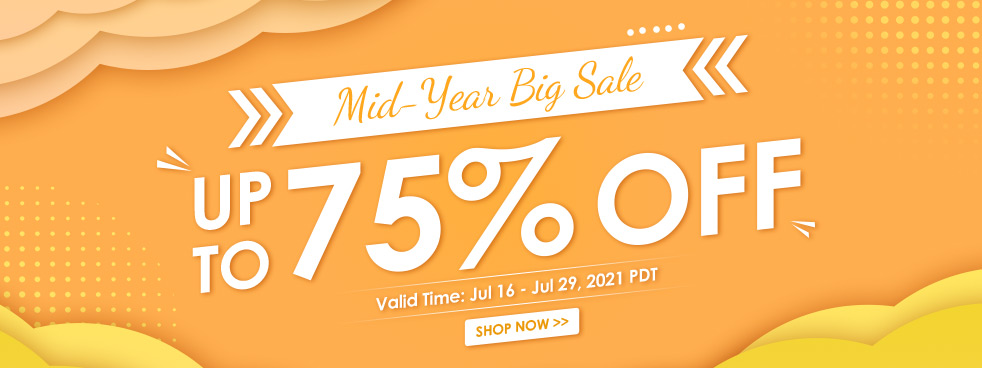 Mid-Year Big Sale Up To 75% OFF
