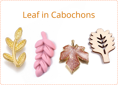 Leaf in Cabochons