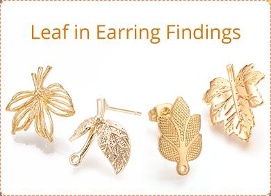 Leaf in Earring Findings