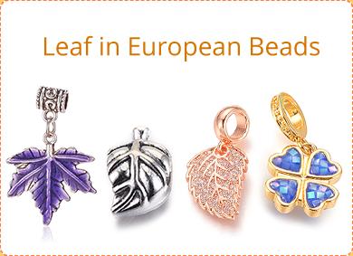 Leaf in European Beads