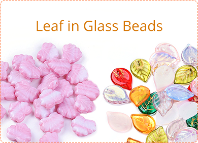 Leaf in Glass Beads