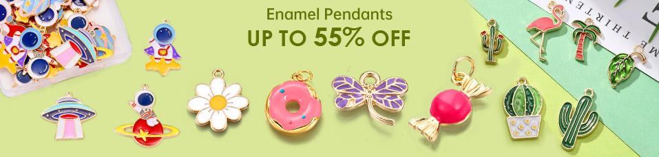 Enamel Pendants UP To 55% OFF