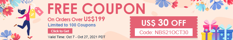 Free Coupon  US$ 30 OFF On Orders Over US$199